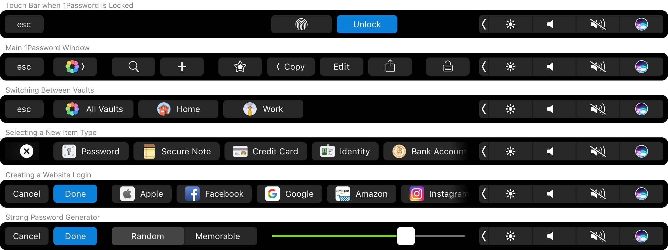 1password-Touch Bar