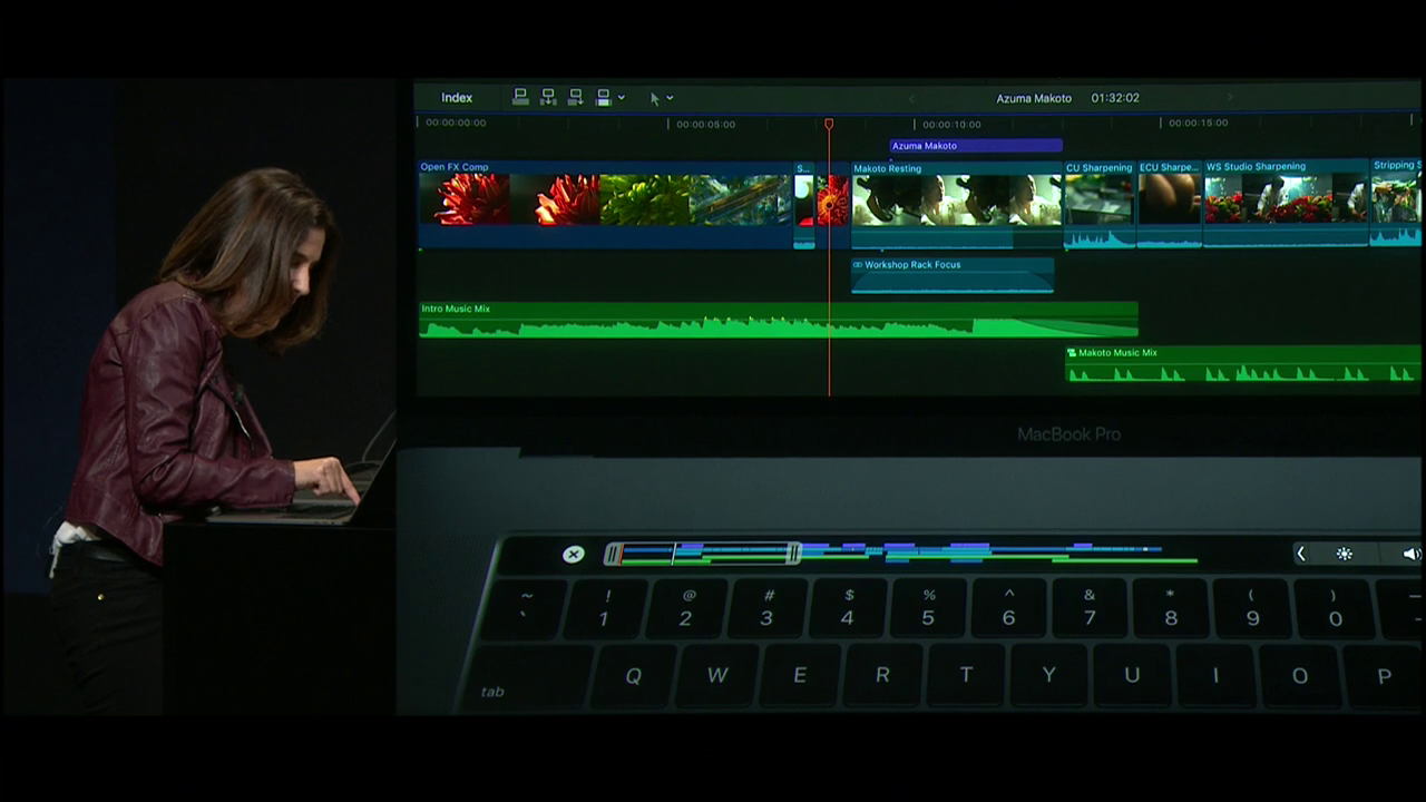 Touch Bar met Final Cut Pro X.