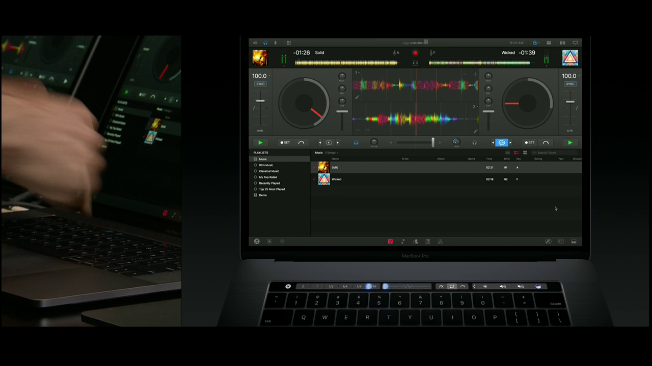 Touch Bar met Deejay Pro.