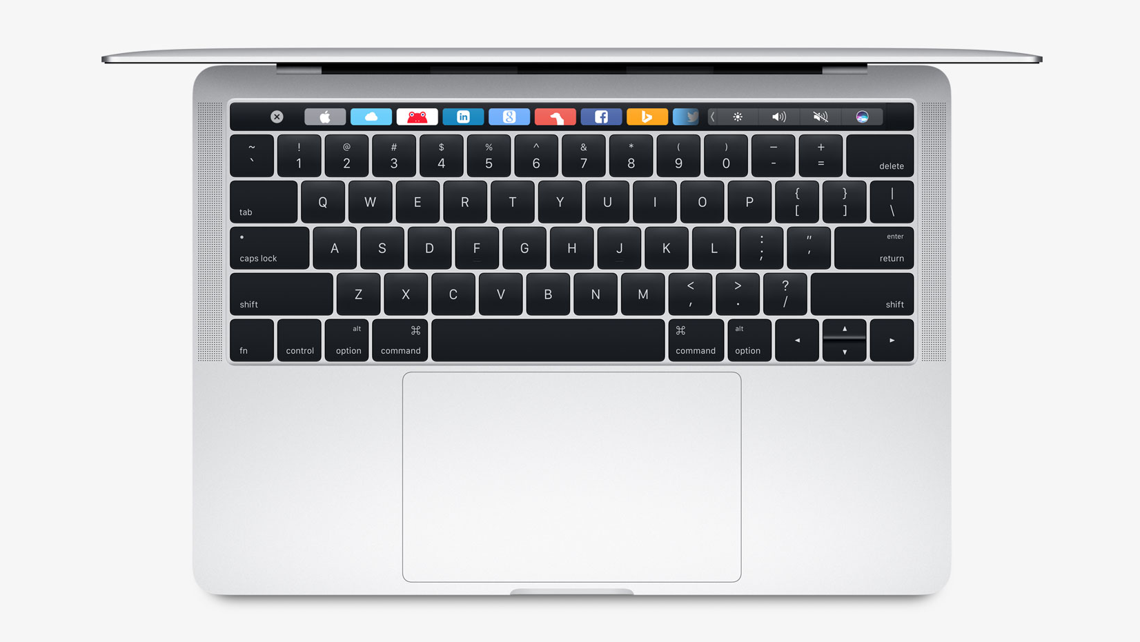 macbook pro 2016 bovenaanzicht