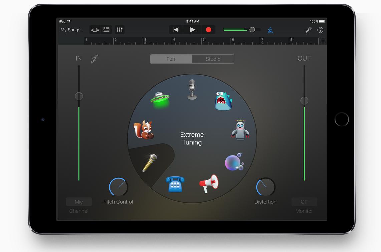 De nieuwe Audio Recorder in GarageBand voor iOS.