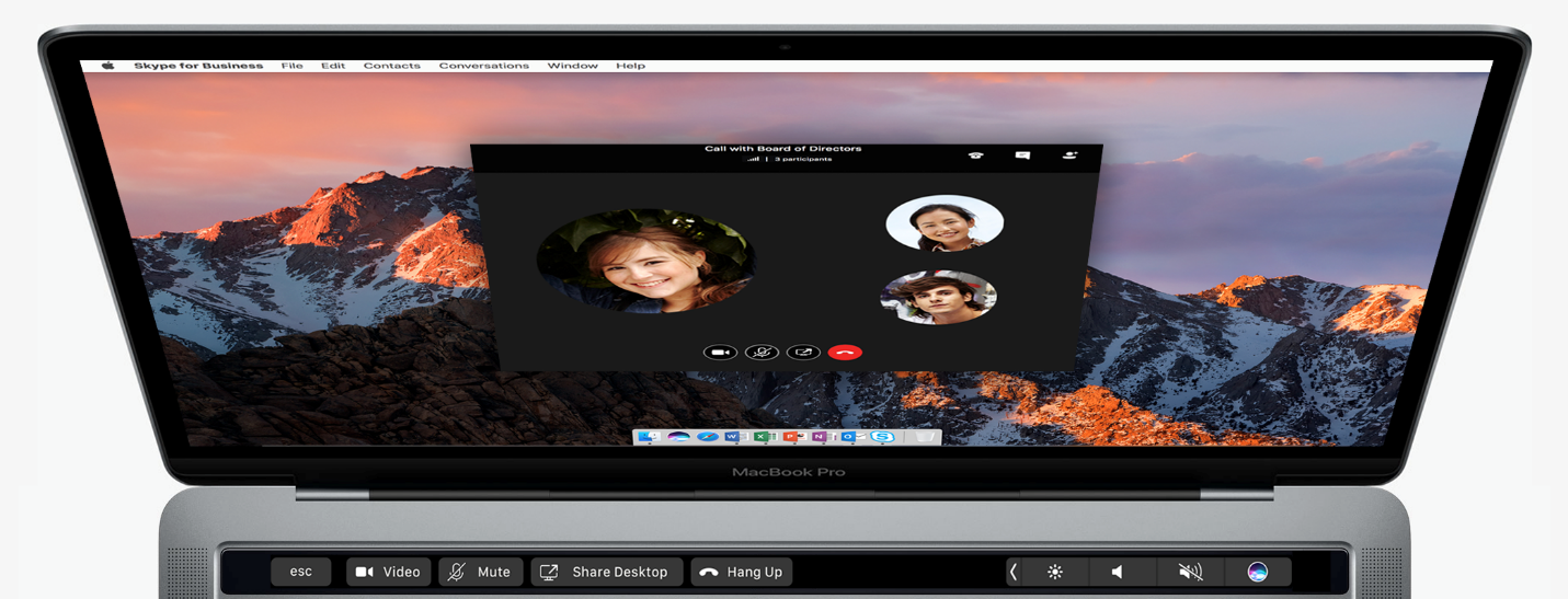 skype for business touch bar