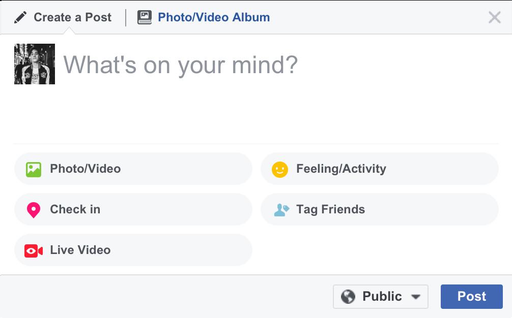 Create Post - Live Video