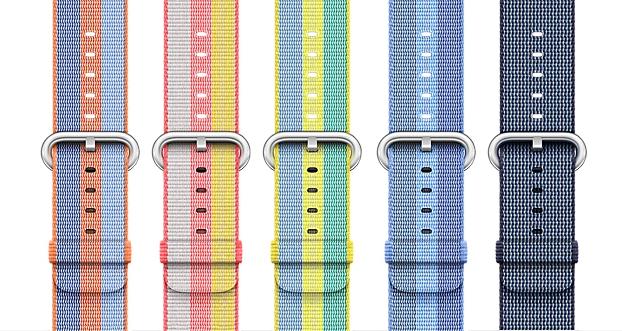 apple watch bandjes nylon nieuw voorjaar 2017