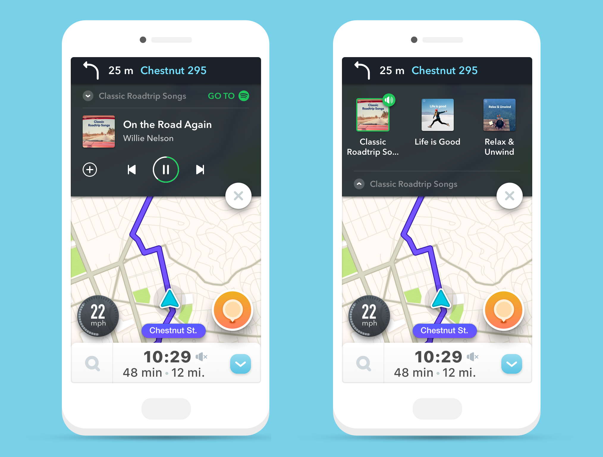 spotify in waze
