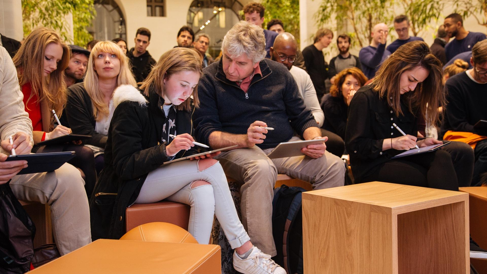 Apple Store zitplaatsen workshop