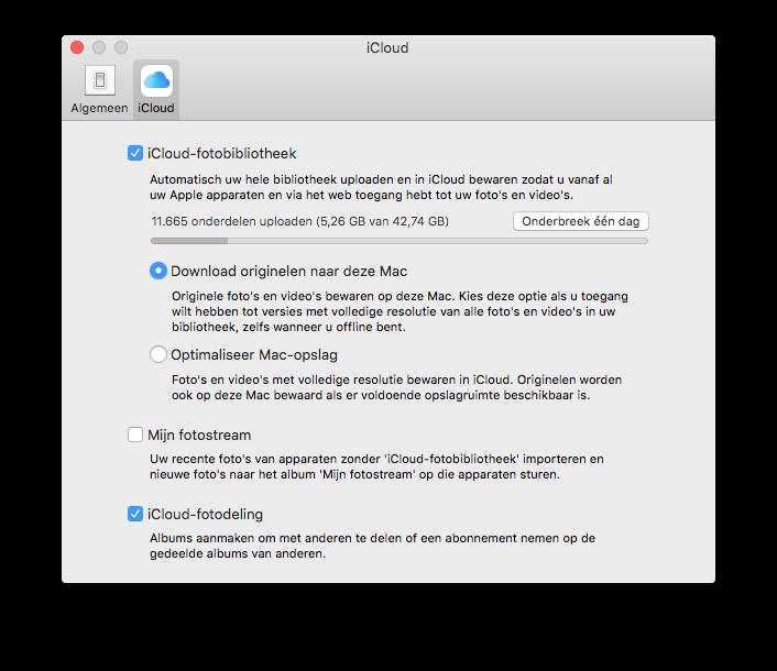 iCloud-Fotobibliotheek upload