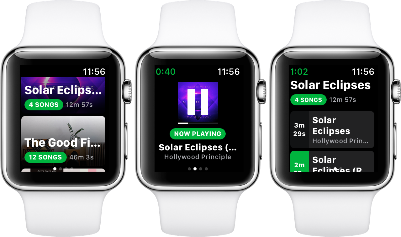 Spotify watchOS 5