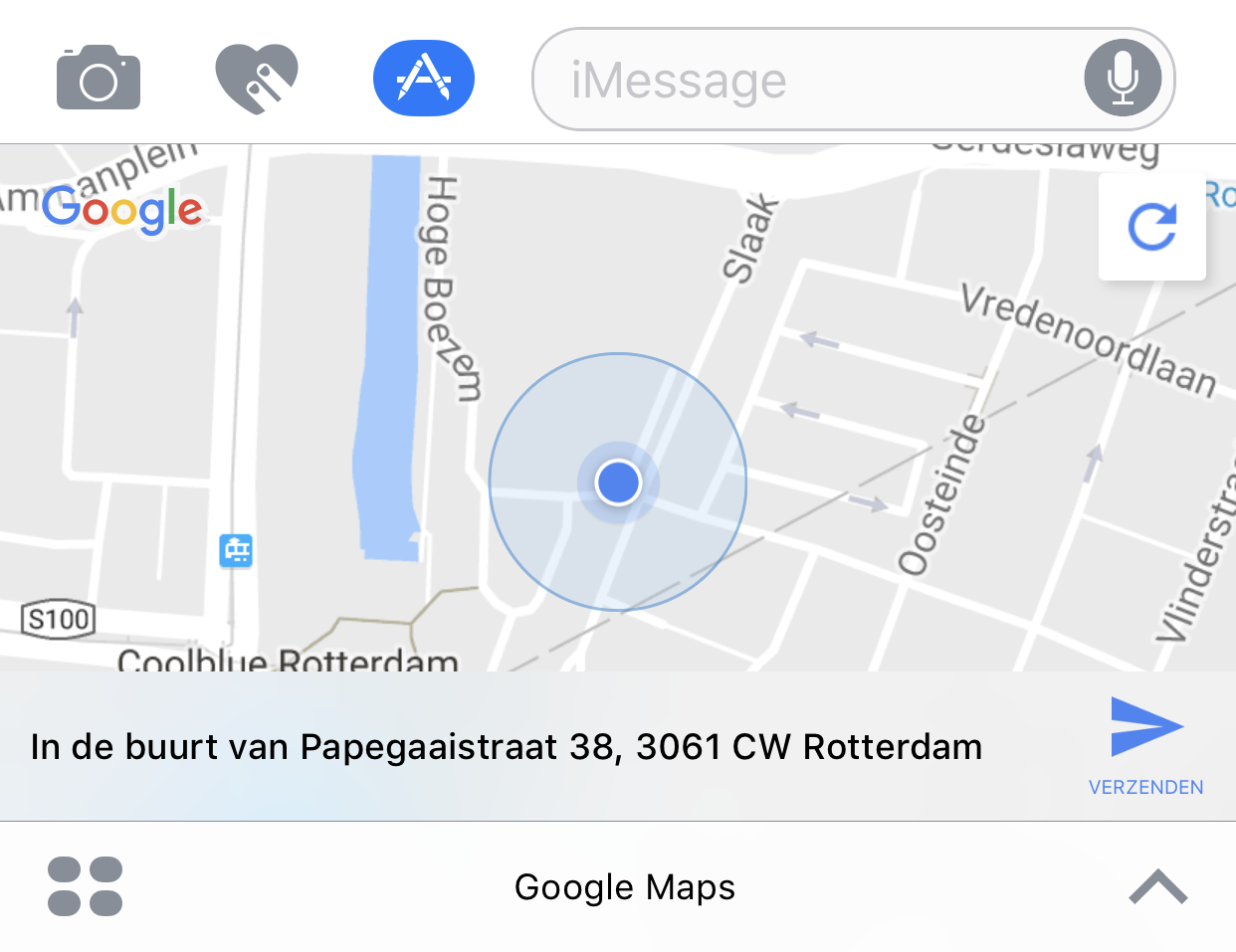 google maps imessage-app