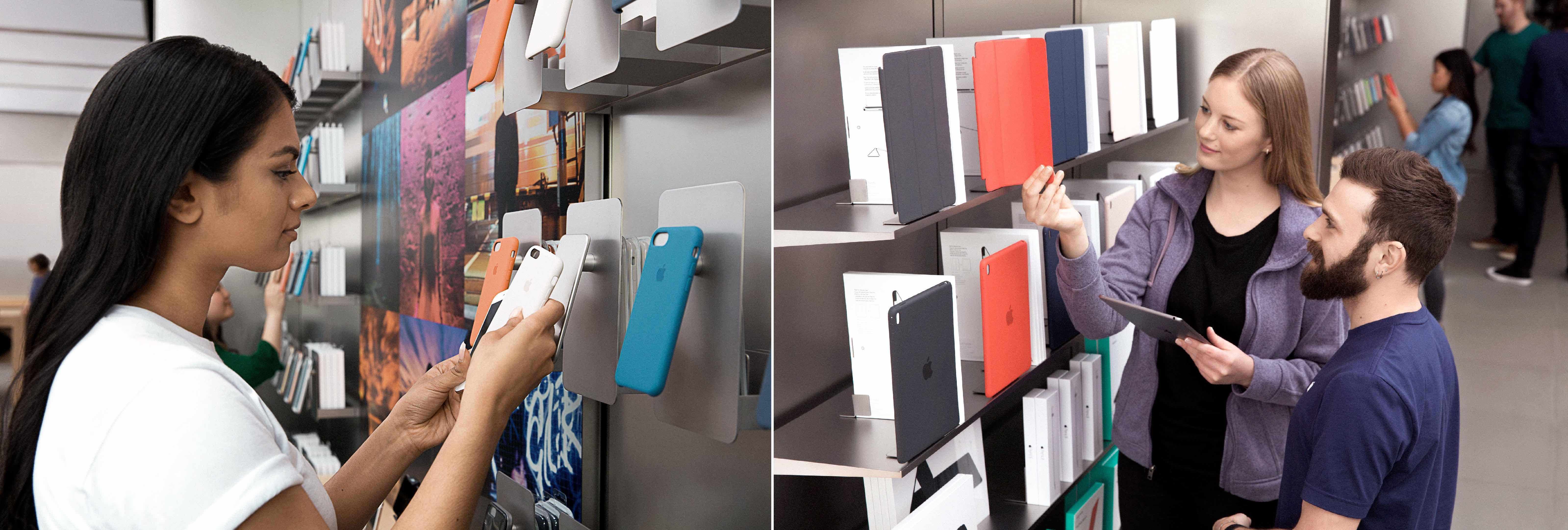Apple Store nieuwe rekken accessoires 001