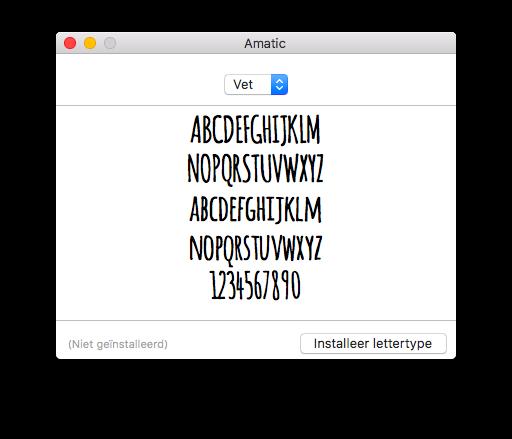 Installeren lettertype Mac