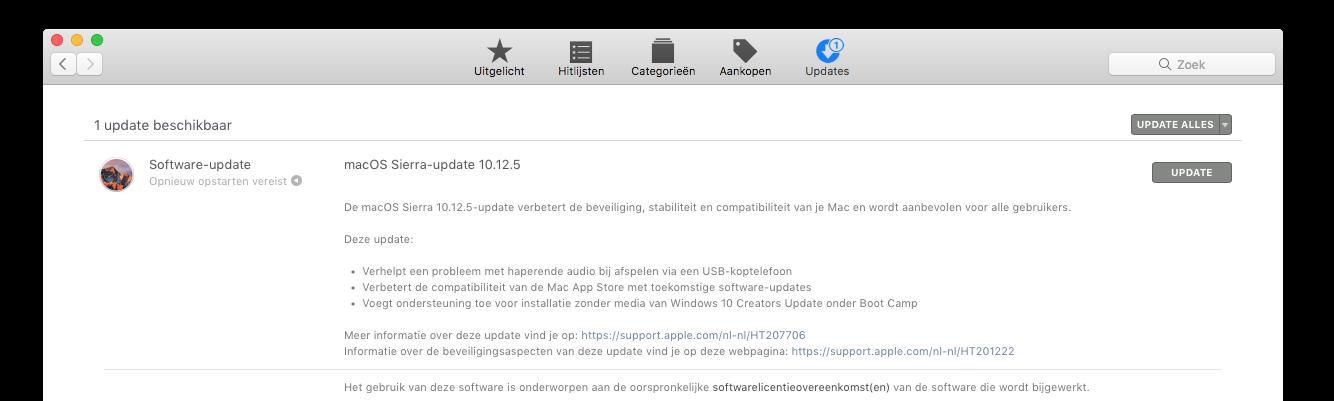 Apple brengt regelmatig updates uit die de beveiliging van de Mac bevorderen. Klik/tap voor groter.