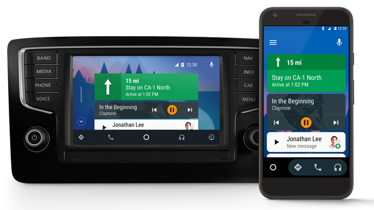 android auto car and smartphone