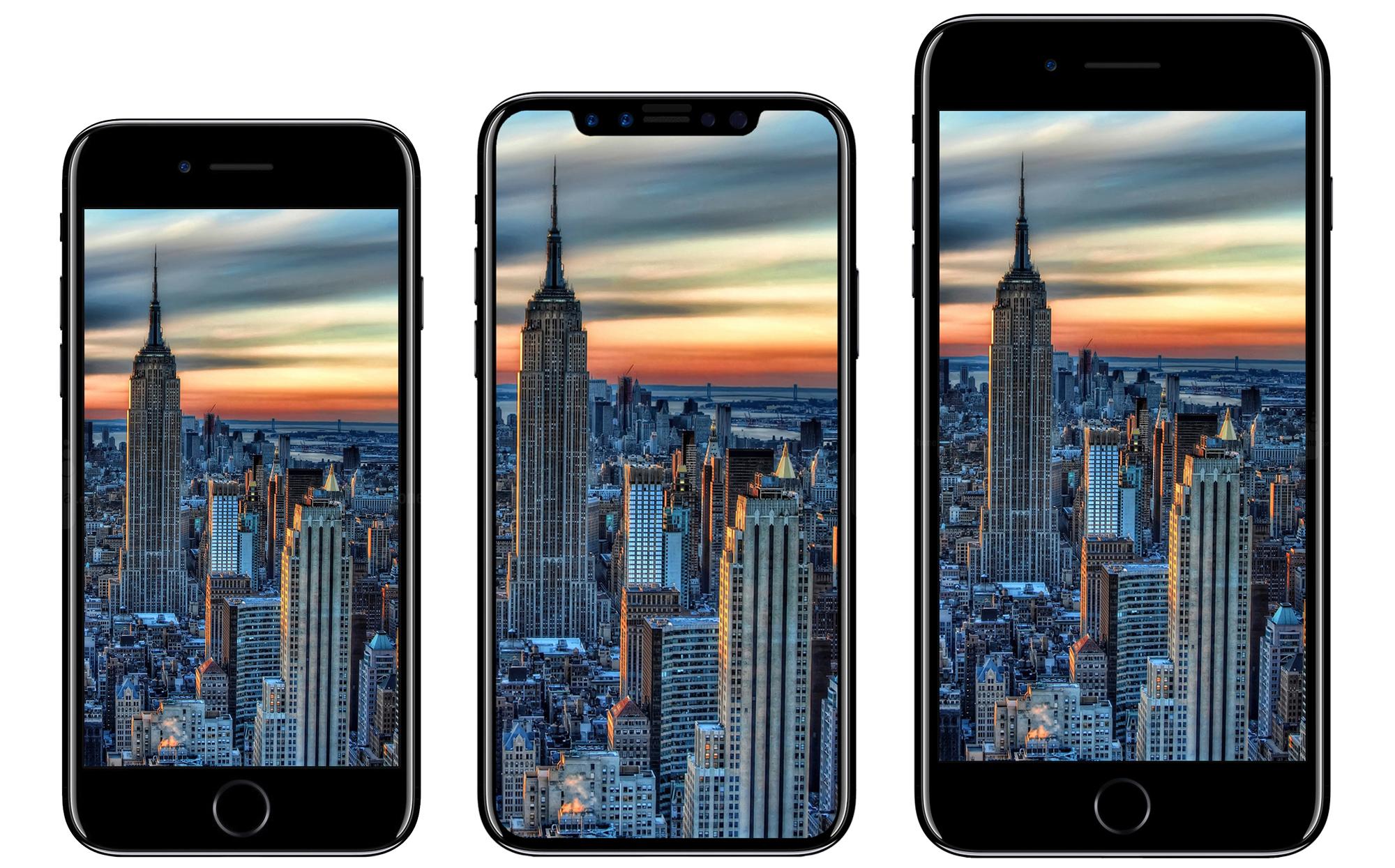 concept iPhone 8, iPhone 8 en iPhone 7s