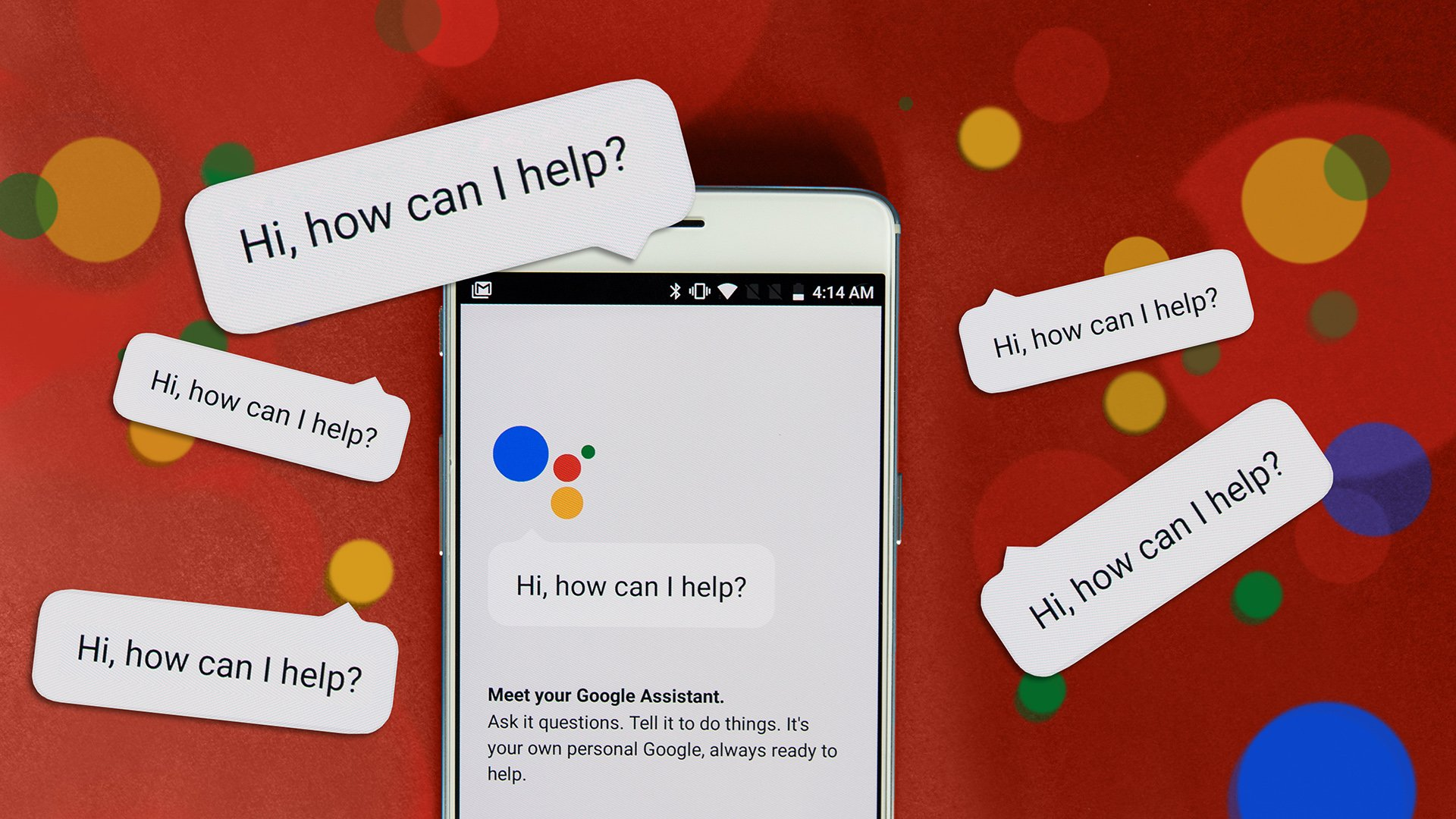 google assistant red 16x9