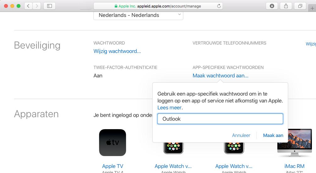app specifiek wachtwoord icloud 001