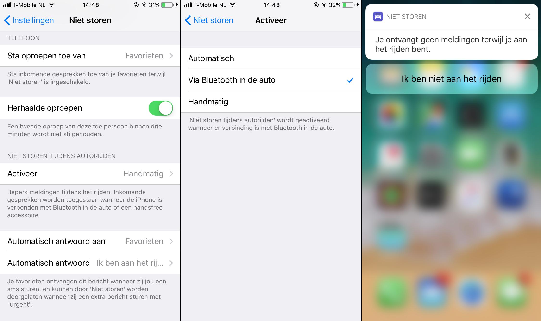 iOS 11 niet storen tijdens het rijden