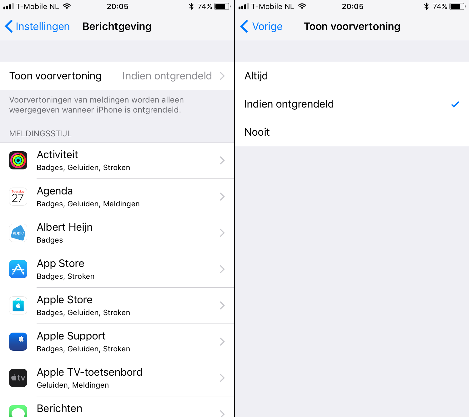 ios 11 notificaties verbergen 001