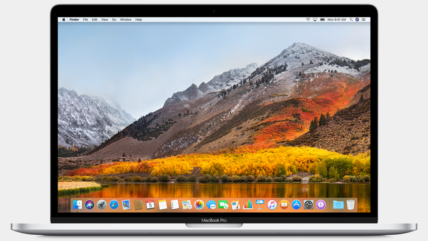 macos 10.13 high sierra op macbook 16x9