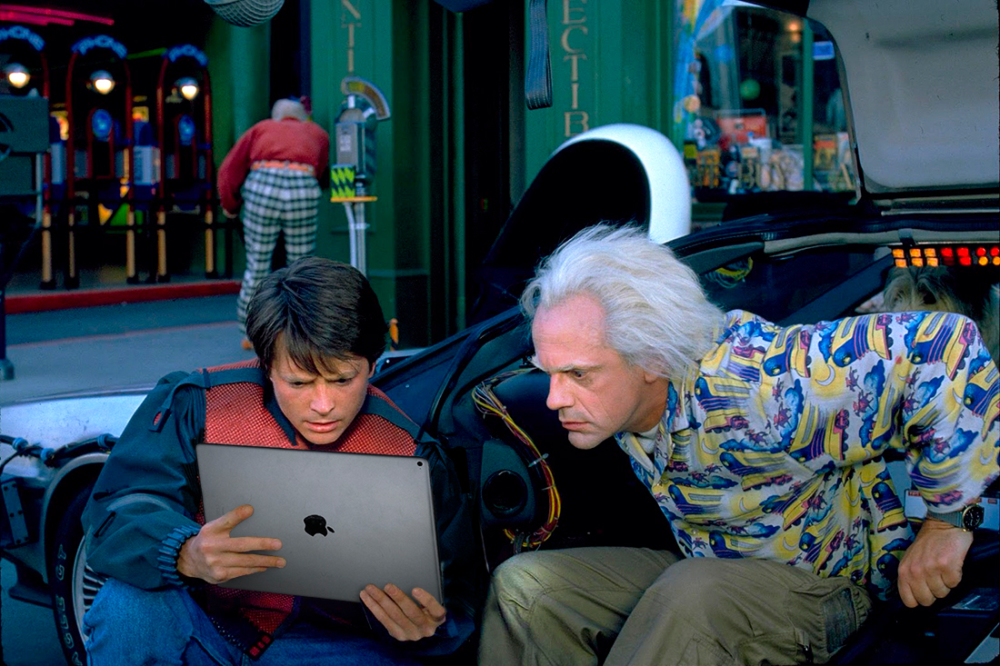 Back to the Future (1985) met iPad Pro