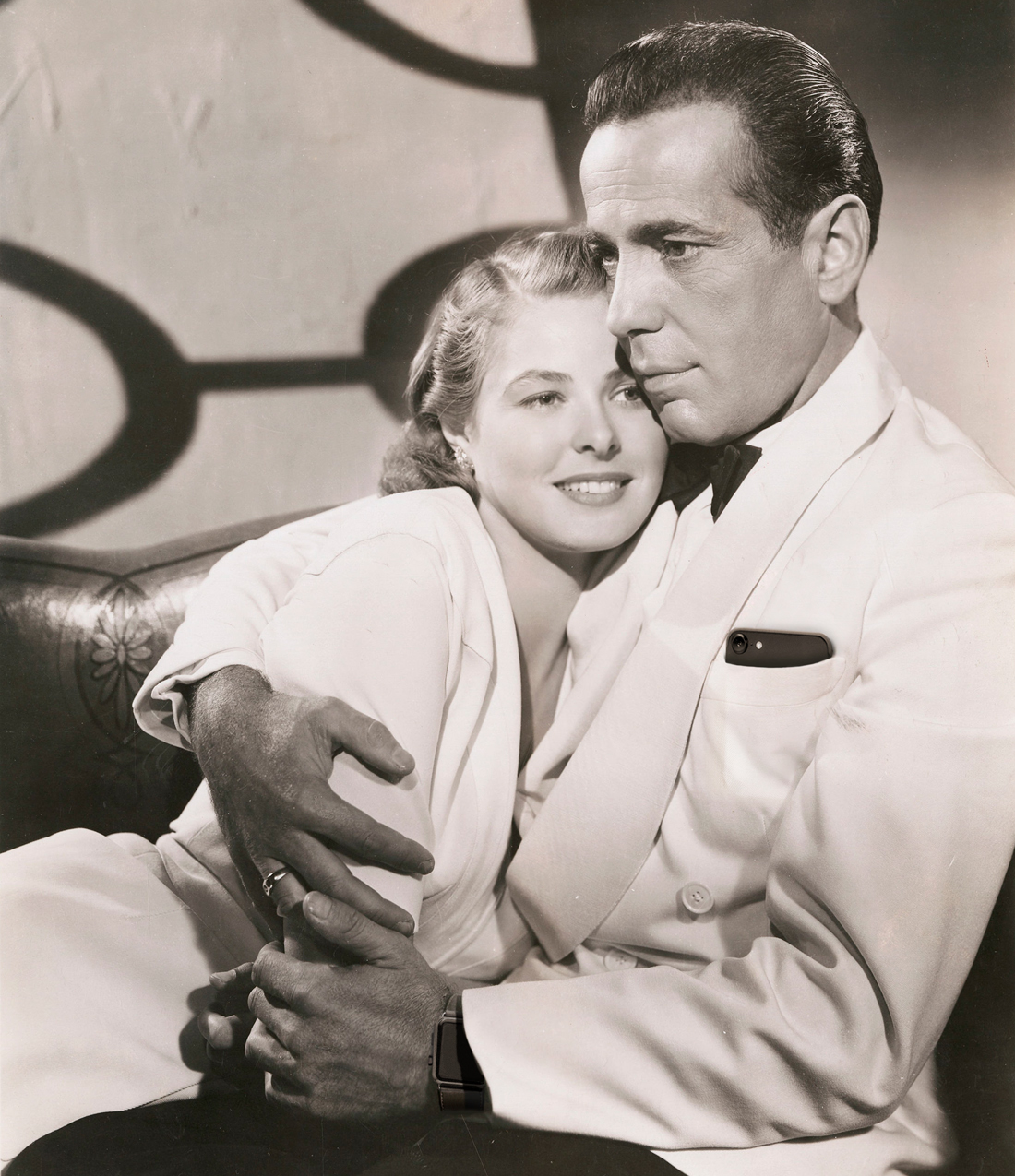 Humphrey Bogart en Ingrid Bergman Casablanca 1942 iPhone Watch