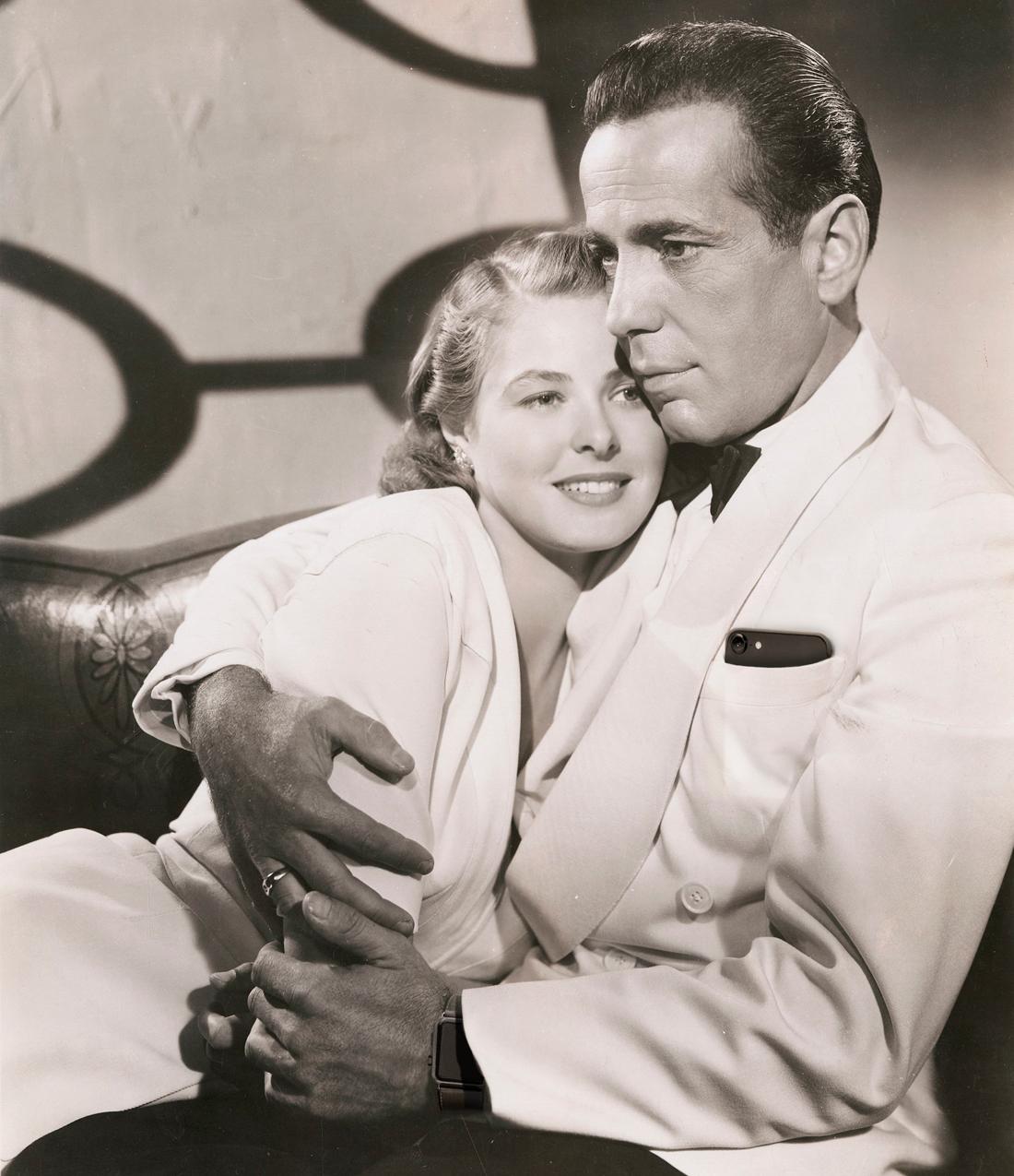 Humphrey Bogart en Ingrid Bergman Casablanca 1942 iPhone Watch