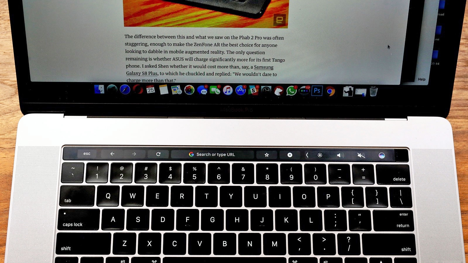 chrome touch bar macbook pro