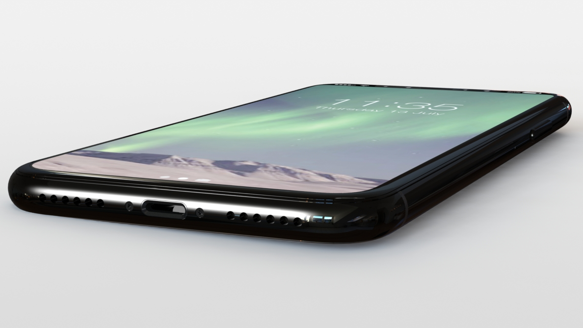 iPhone 8 CAD render 16x9