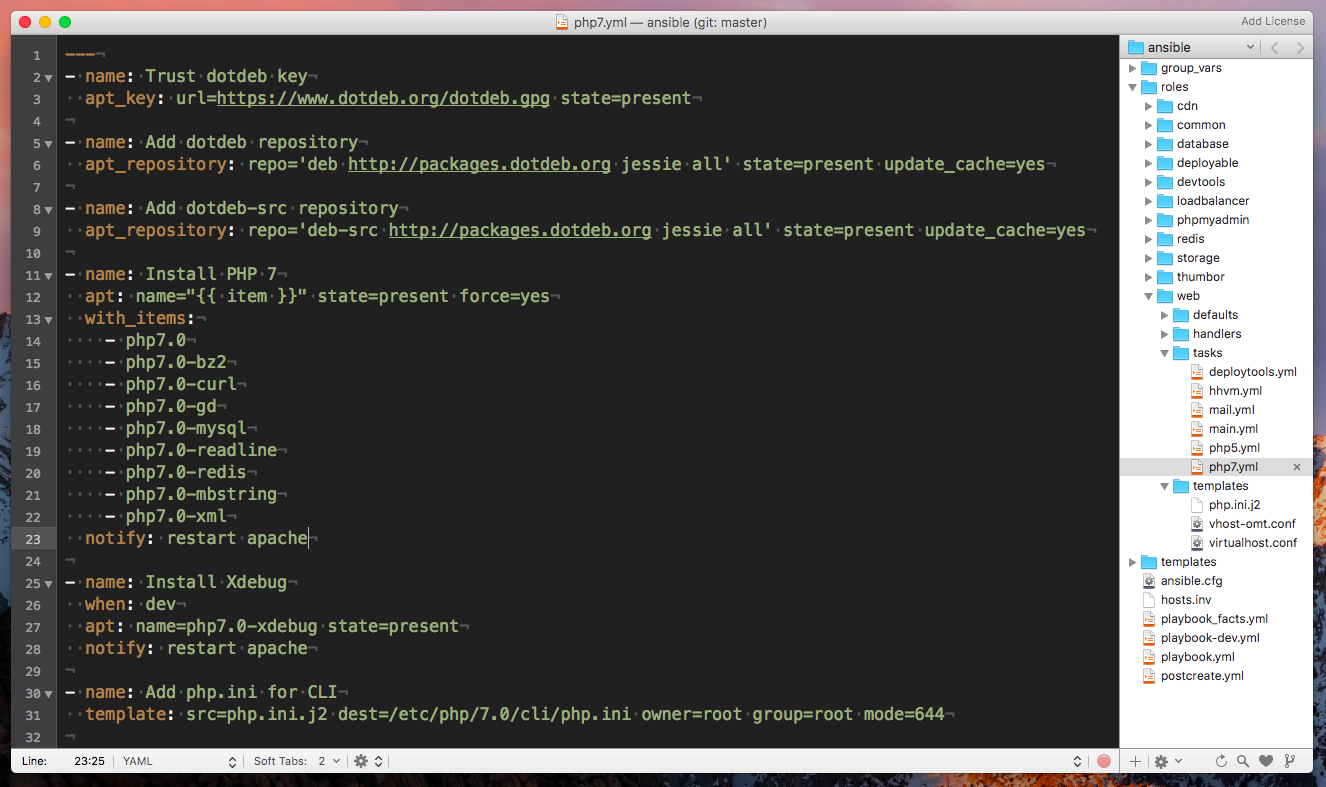 ansible omt