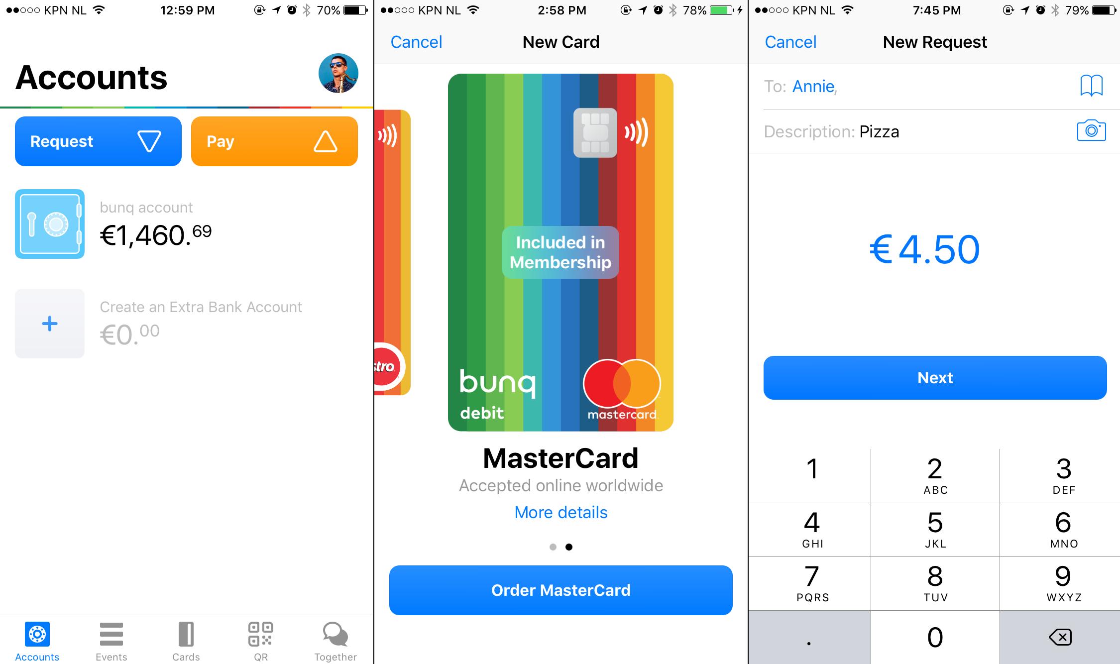 Bunq app mastercaard