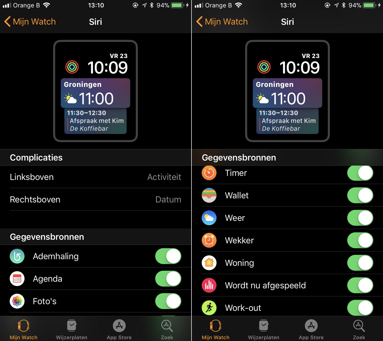 Apple Watch Siri Face opties 001