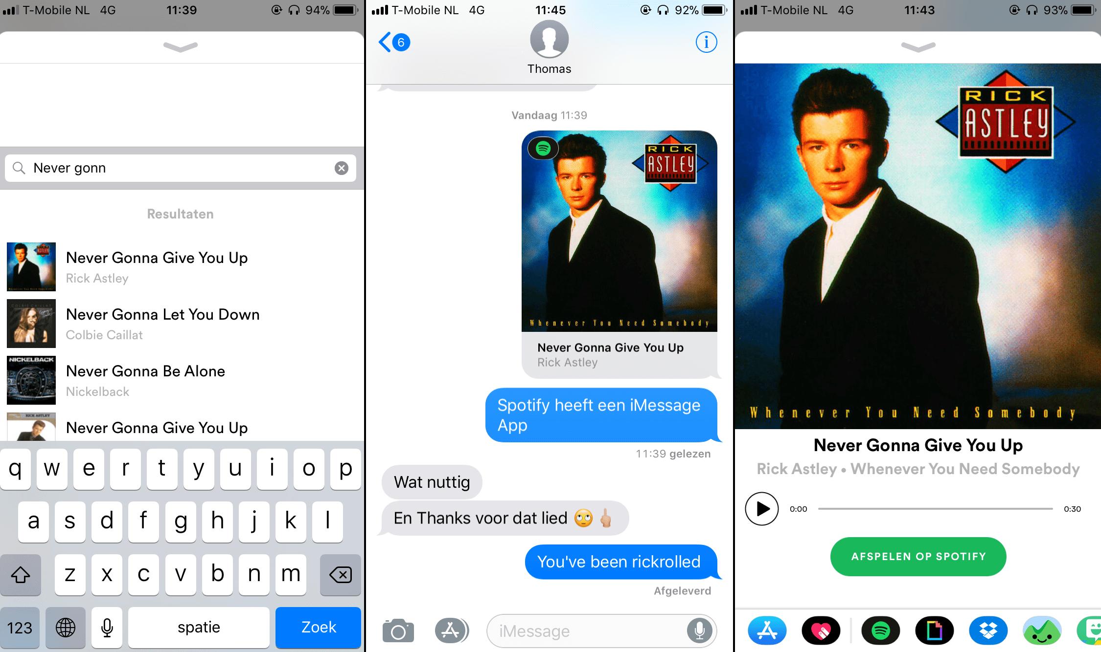 Spotify iMessage app 001
