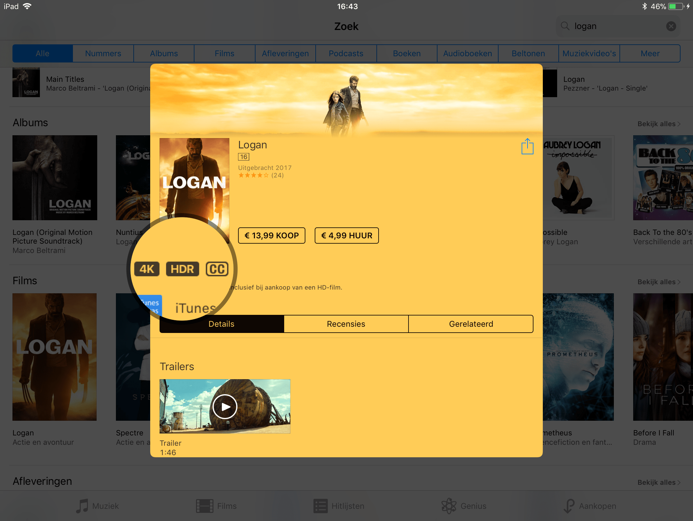 iTunes 4K