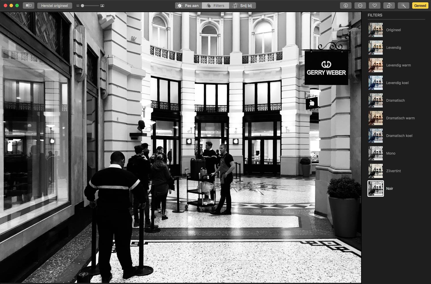 macos high sierra foto's app filters