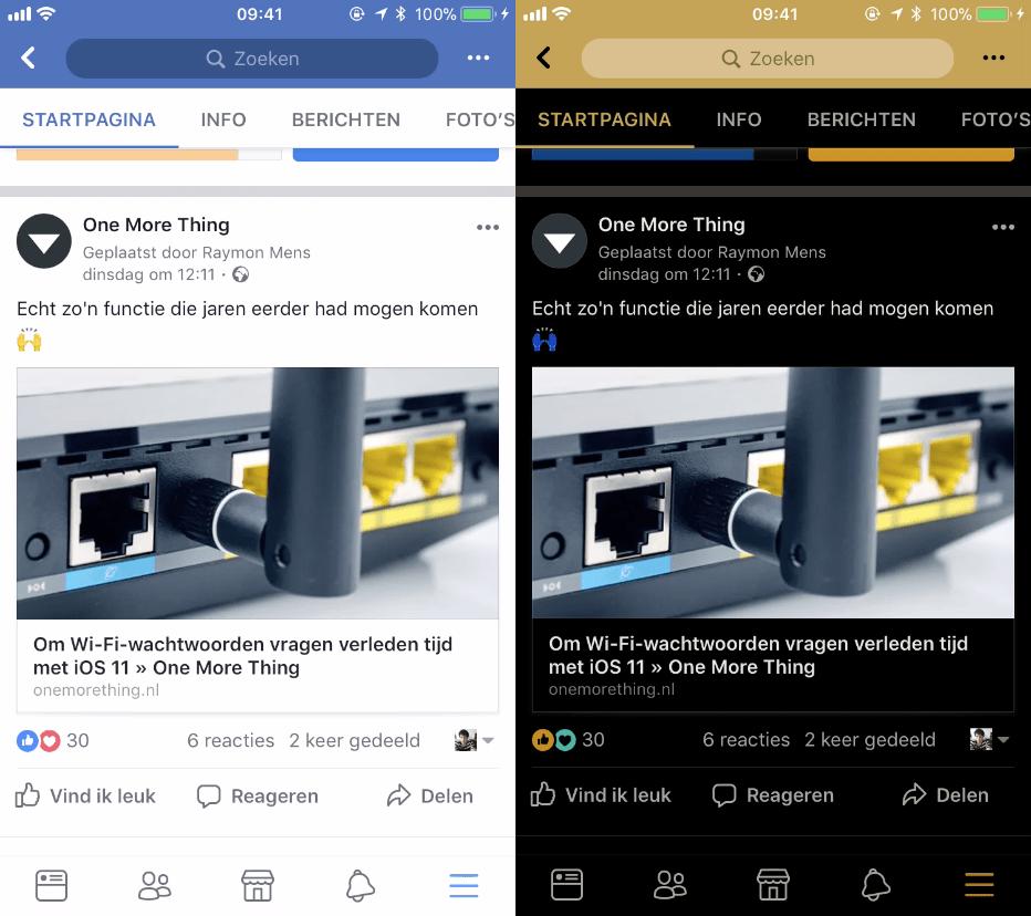 facebook keer kleuren om 001