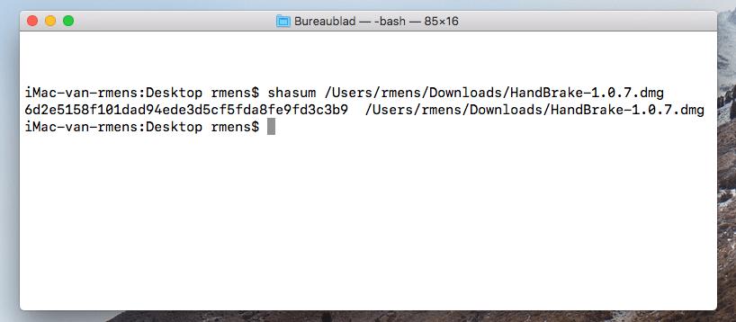 screenshot sha checksum macos
