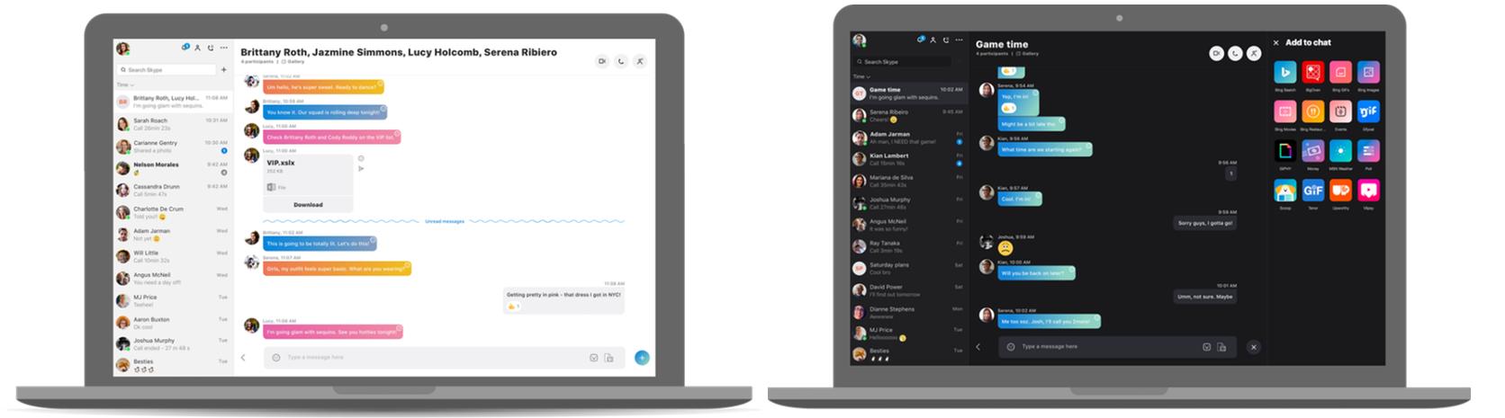 skype new 2017 lichtdonker