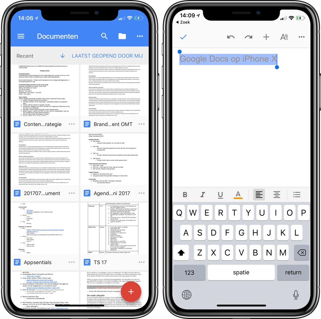 Google Docs iPhone X 001