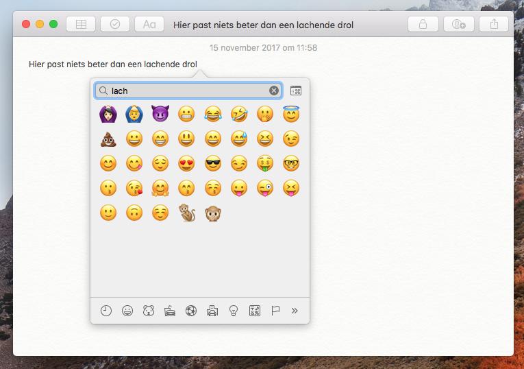 emoji zoeken mac 001
