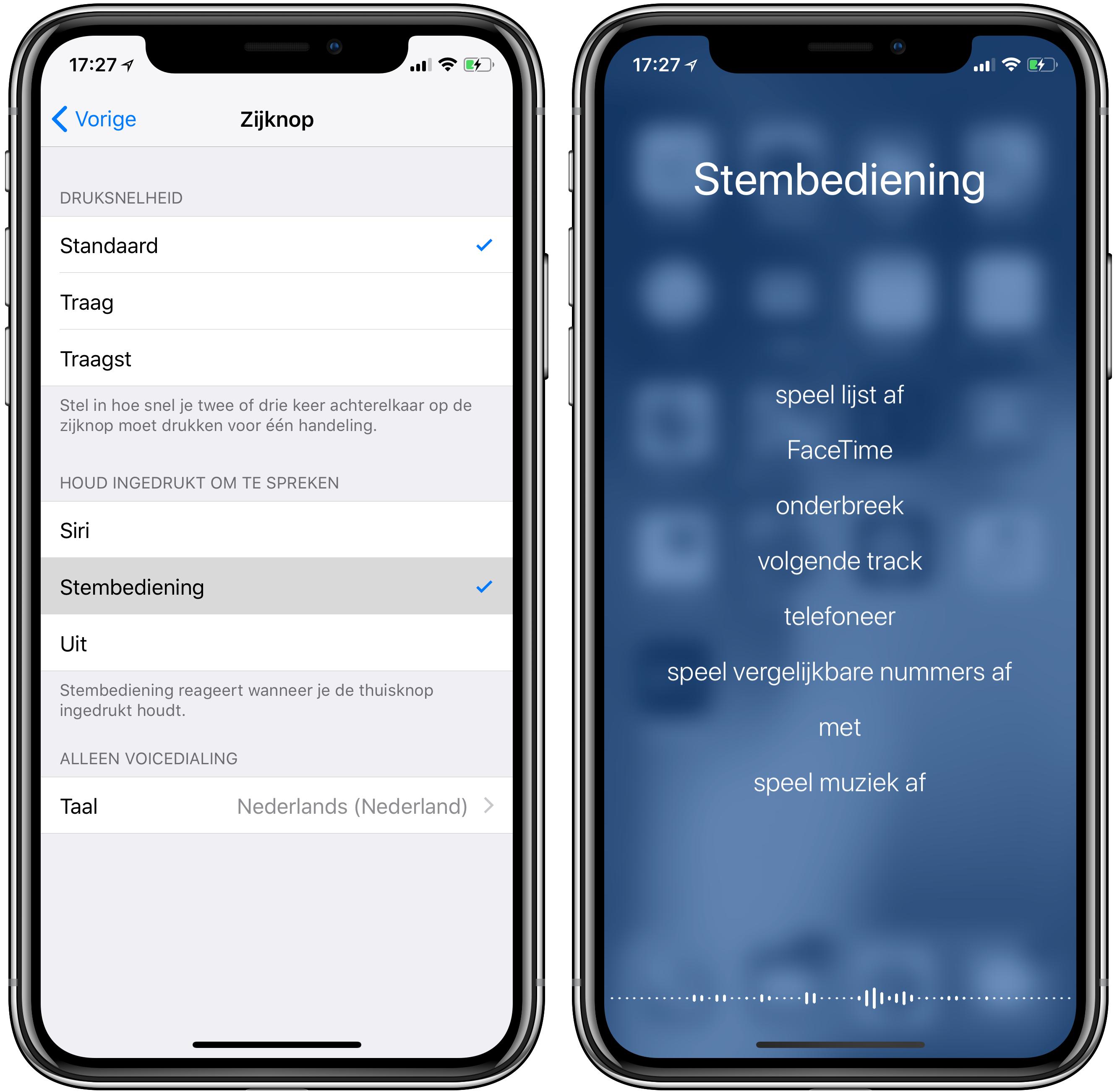 stembediening iphone x 001