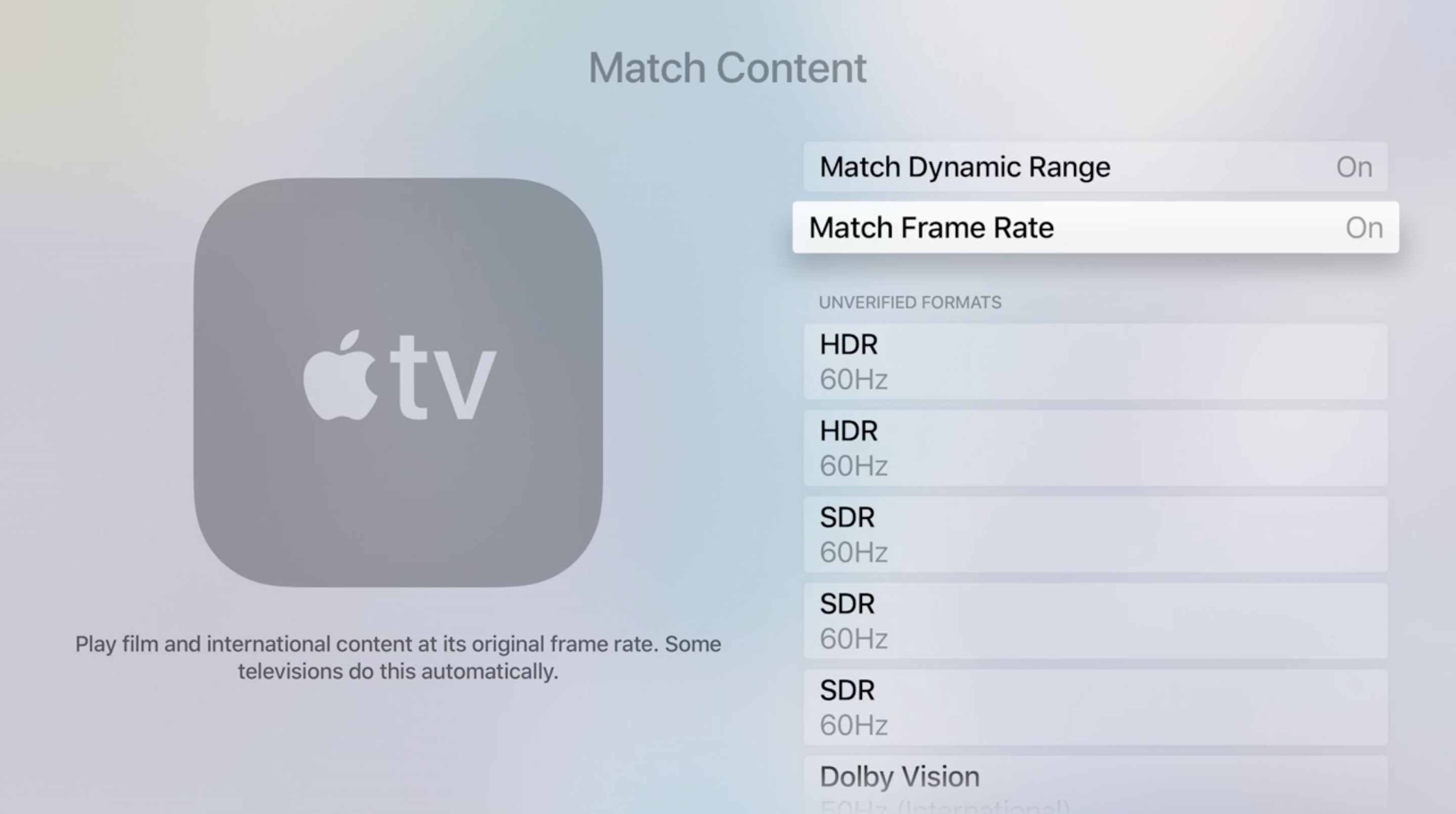 tvOS 11.2 flexibel beeldformaat