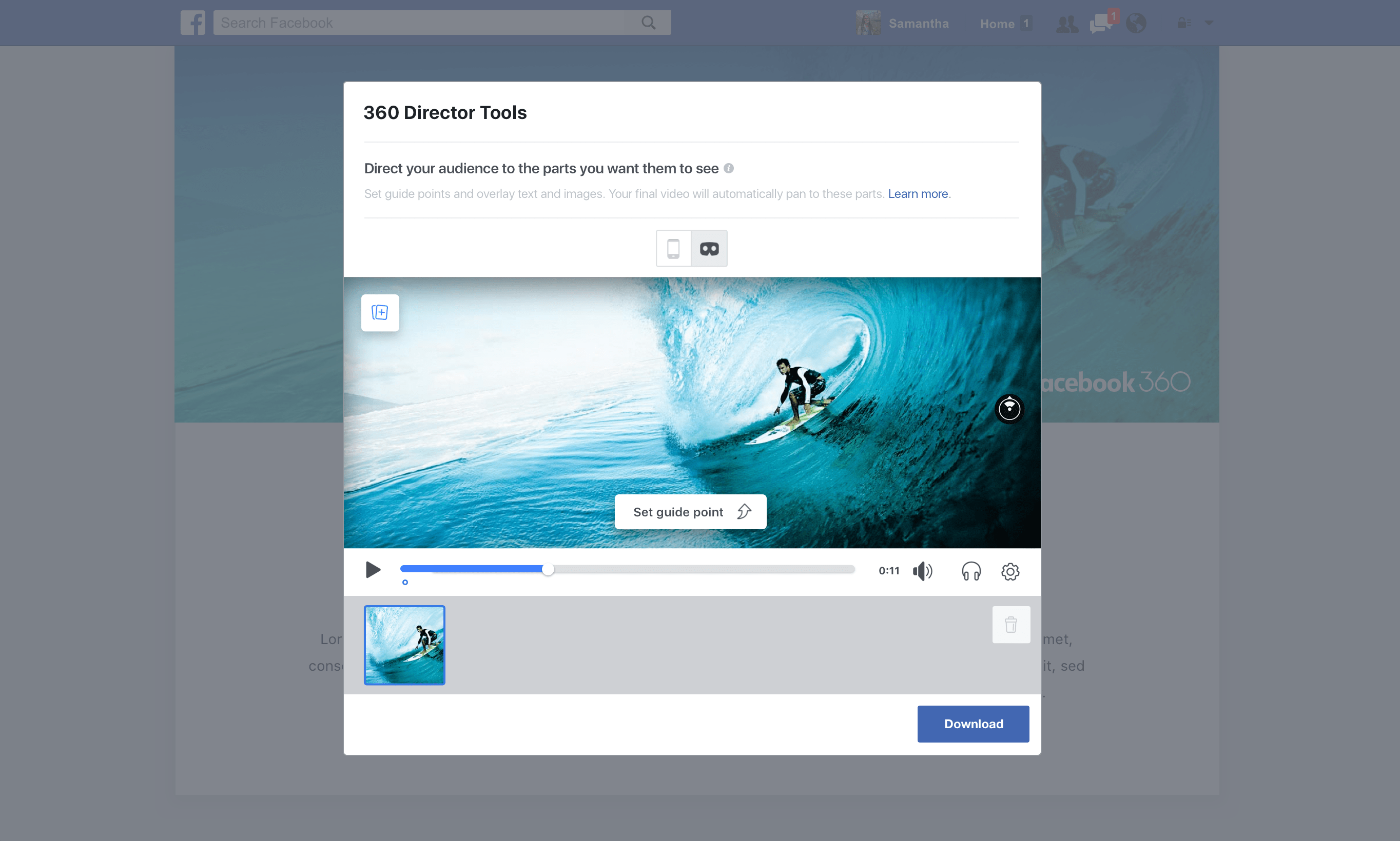 facebook 360 Director