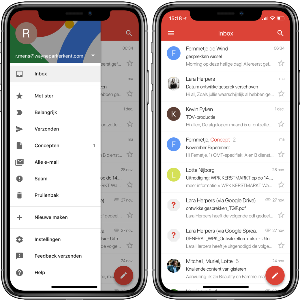 gmail iphone X 001
