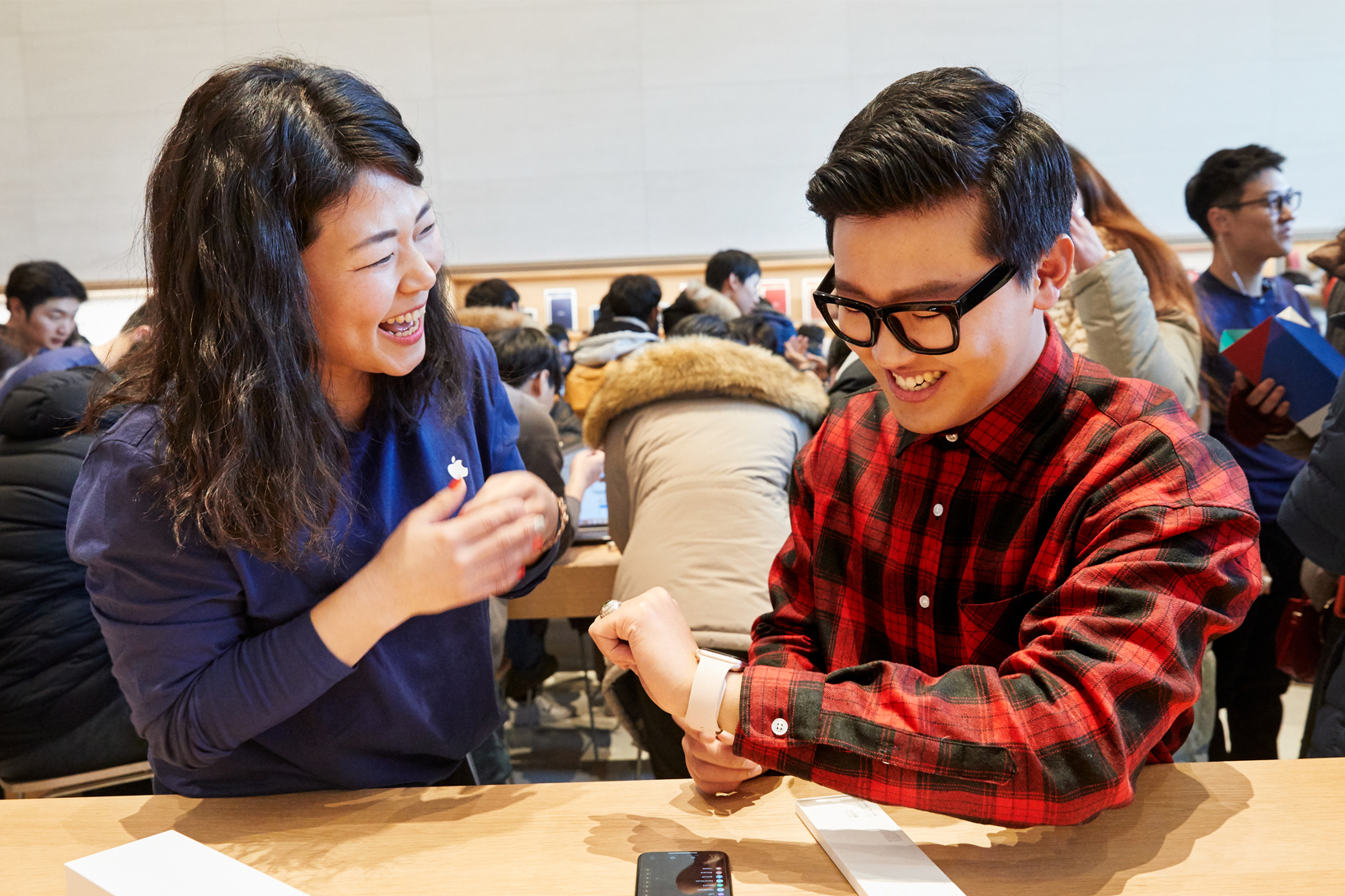 Apple Store Zuid-Korea Seoul Garosugil Apple Watch