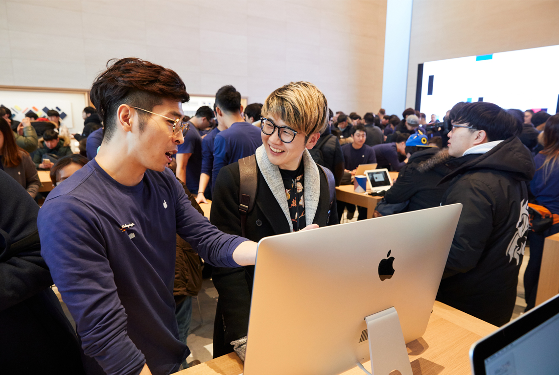Apple Store Zuid-Korea Seoul Garosugil iMac