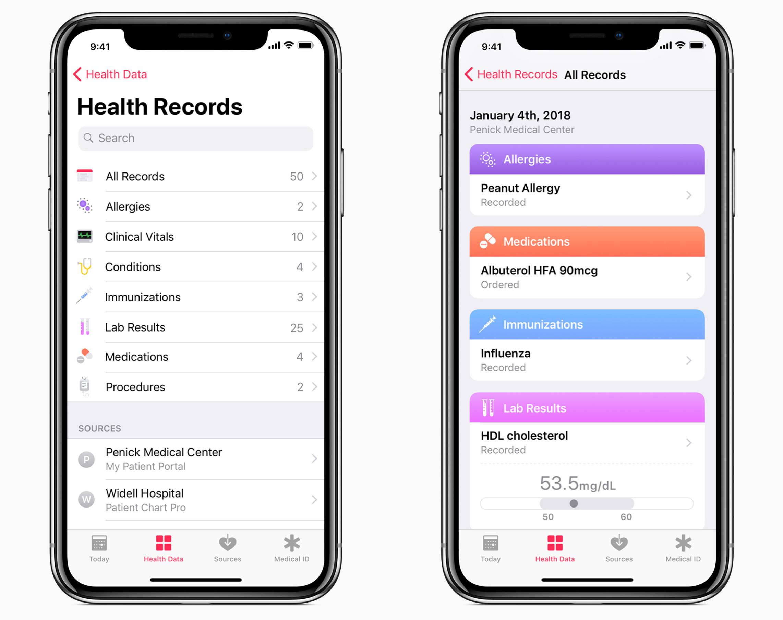gezondheid-app iOS 11.3