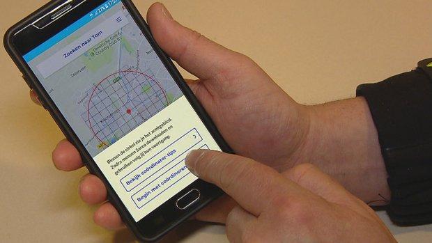 Zoek-app screenshot politie