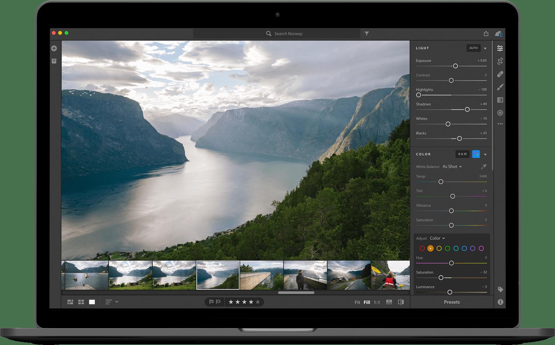 Lightroom op een Mac