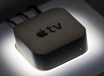 Apple TV aan