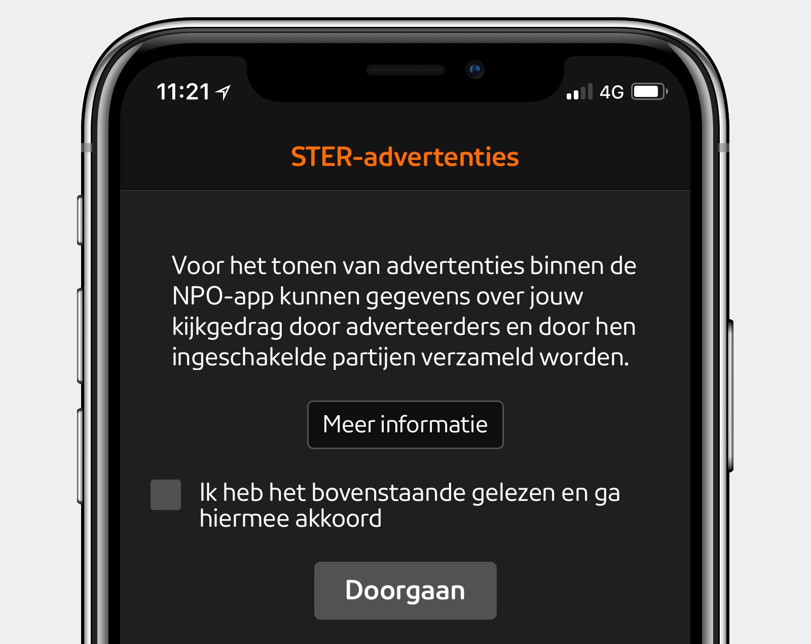 npo-app ster voorwaarden screenshot